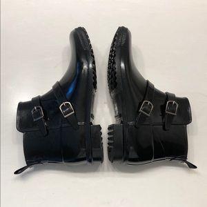 Cougar Shoes - Cougar Black Buckle Rain Boots, Sz 8